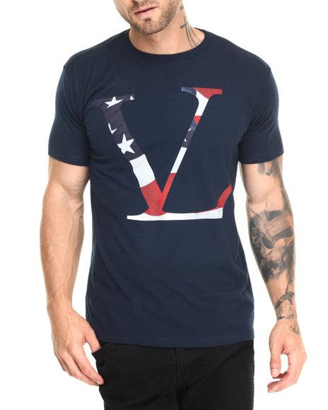 Vampire Life - Men Navy Vamp Patriot T-Shirt - $11.99