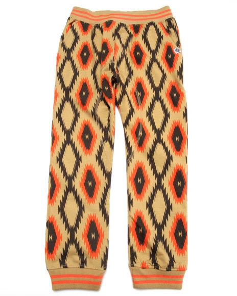 Akademiks - Boys Khaki Aztec All Over Print Joggers (8-20)