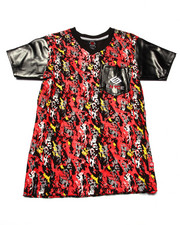 Tops - SPLATTER V-NECK TEE (8-20)