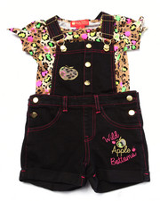 Apple Bottoms - 2 PC SHORTALL SET (2T-4T)