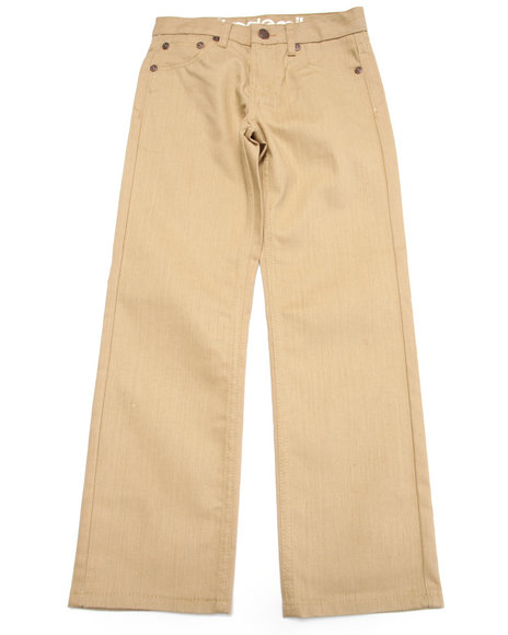 Akademiks - Boys Khaki Coated Denim Jeans (8-20)