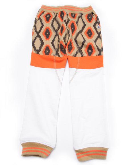 Akademiks - Boys White Cut & Sew Aztec Joggers (8-20)