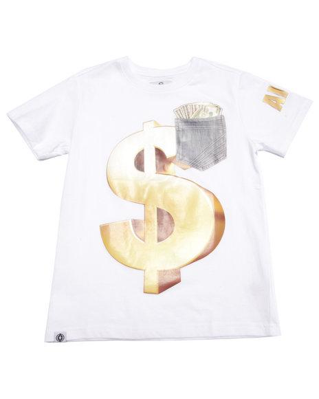 Akademiks - Boys White Money Tee (8-20) - $14.99