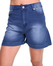 Bellfield - Denim Winged Leg Shorts