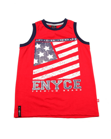 Enyce - Boys Red American Tank (8-20) - $4.99