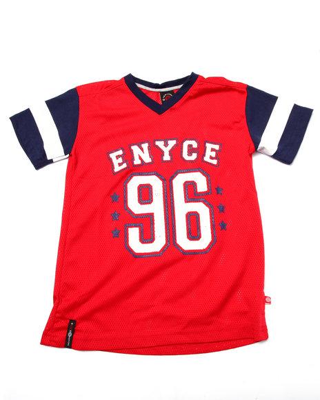 Enyce - Boys Red Mesh Americana Tee (8-20) - $13.99