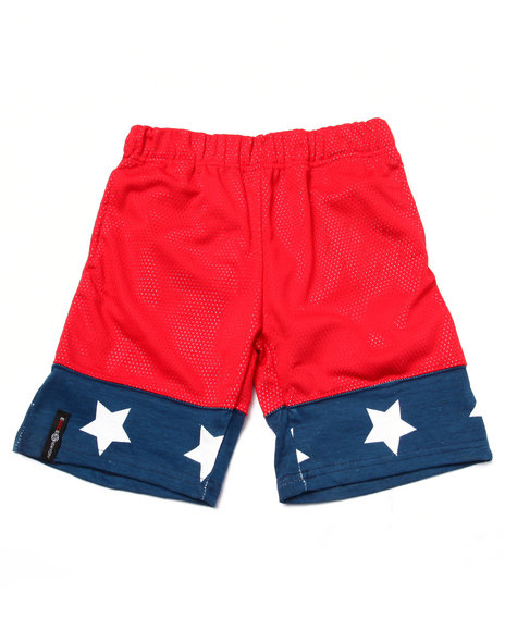 Enyce - Boys Red Mesh Americana Shorts (4-7) - $6.99