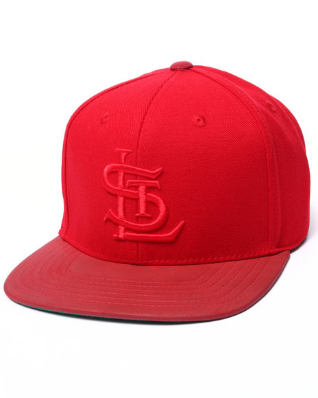 American Needle - Men Red St. Louis Cardinals Tonalism Nubuck Strapback Hat - $17.99