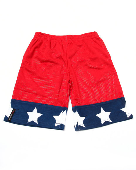 Enyce - Boys Red Mesh Americana Shorts (8-20) - $21.99