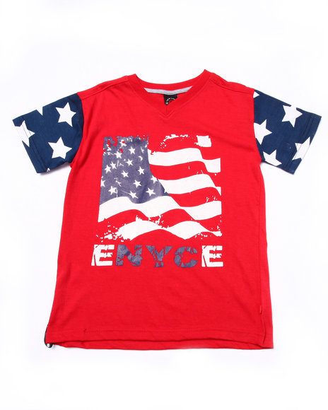Enyce - Boys Red American Flag Tee (8-20) - $8.99