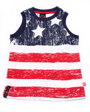Sizes 4-7x - Kids - AMERICAN FLAG TANK (4-7)