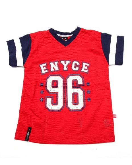 Enyce - Boys Red Mesh Americana Tee (4-7)