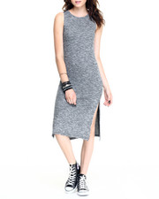 Fashion Lab - Brushed Marl Sweater Knit Sleeveless Dress