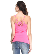 Tops - Back Criss Cross Strap Basic Cami