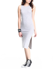 Women - Brushed Marl Sweater Knit Sleeveless Dress