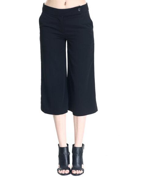 Ur-ID 220618 Vertigo - Women Black Tab Waist Gaucho Pants