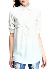 Women - Roll Sleeve Tunic Shirt
