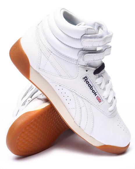 Ur-ID 220643 Reebok - Women White Freestyle Hi Fitness Sneakers