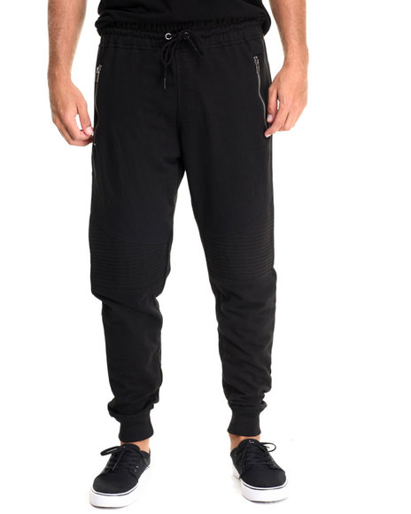 Buyers Picks - Men Black Moto Jogger