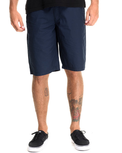 Buyers Picks - Men Navy Flat Front Drawstring Shorts