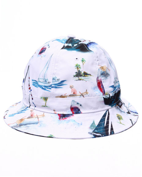 Crooks & Castles - Men White Paradise Bucket