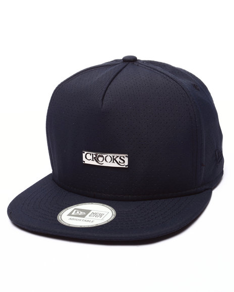 Crooks & Castles - Men Navy Crooks Metal Badge Strapback