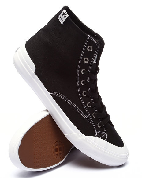 Ur-ID 220693 HUF - Men Black Classic Hi Canvas Sneakers