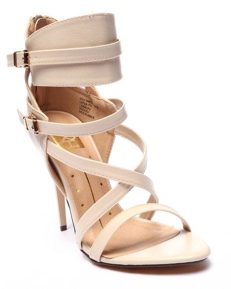 Ur-ID 220695 Fashion Lab - Women Neutral Giselle Open Toe Buckle Strap Heel