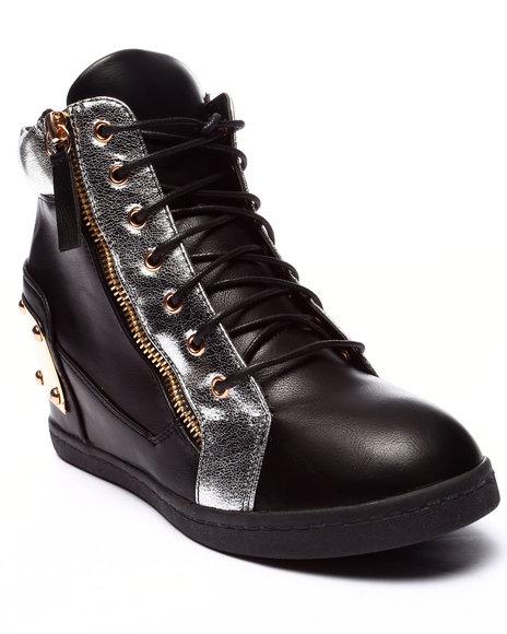 Ur-ID 220698 Fashion Lab - Women Black Alison High Top Sneaker