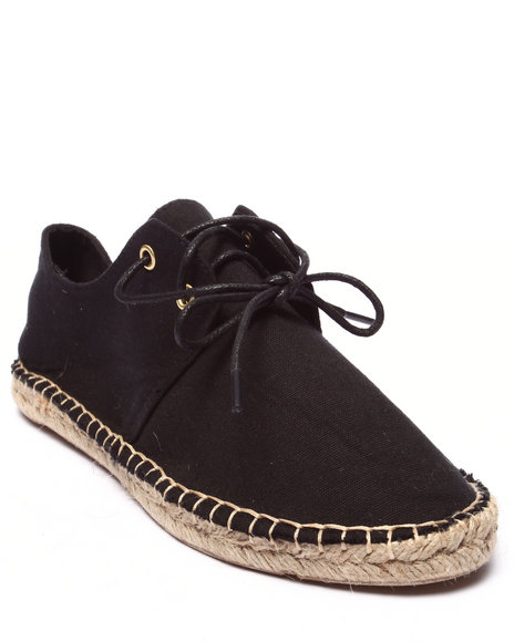 Ur-ID 220702 Fashion Lab - Women Black Mitty Lace Up Espadrille