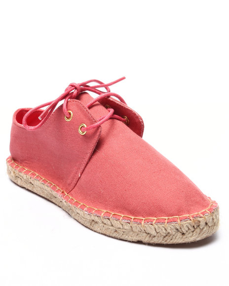 Ur-ID 220703 Fashion Lab - Women Coral Mitty Lace Up Espadrille
