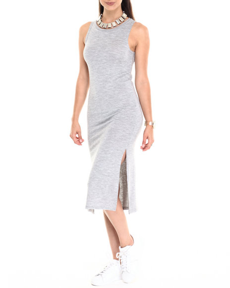 Fashion Lab - Women Grey Brushed Marl Sweater Knit Sleeveless Dress - $17.99