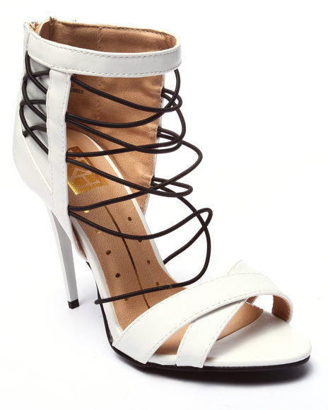 Ur-ID 220708 Fashion Lab - Women White Giselle Open Toe Strappy Heel