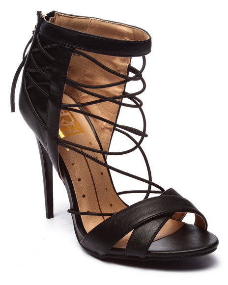 Ur-ID 220709 Fashion Lab - Women Black Giselle Open Toe Strappy Heel