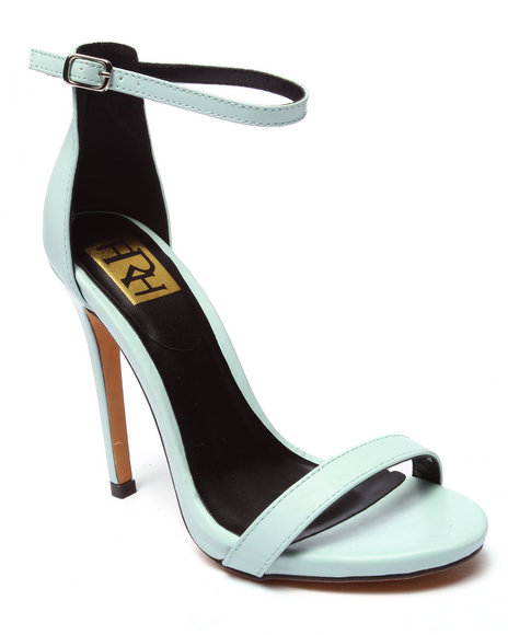 Ur-ID 220711 Fashion Lab - Women Green Giselle Ankle Strap Heel