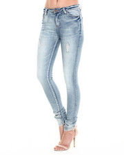 Jeans - Premium Distressed Skinny Jean w/Stitch Detail