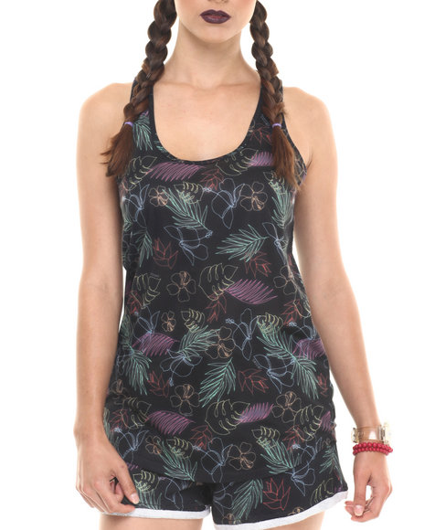 Ur-ID 220733 Crooks & Castles - Women Black Voltage Lounge Tank
