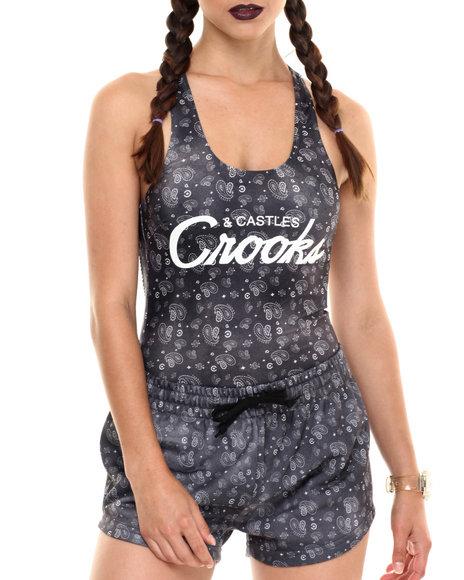 Ur-ID 220761 Crooks & Castles - Women Black Squad Love Bodysuit