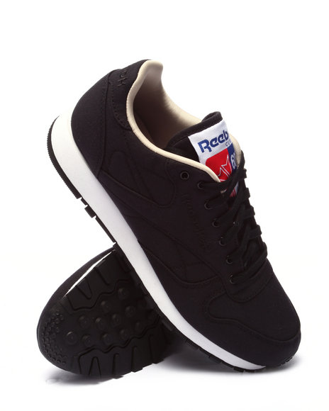 Ur-ID 220704 Reebok - Men Black Cl Leather Clean 60/40 Sneakers (Unisex)