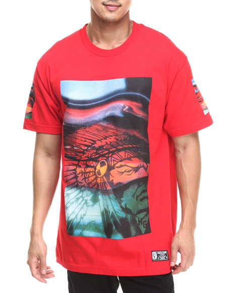 Ur-ID 220724 Hustle Gang - Men Red Hallucinate Tee