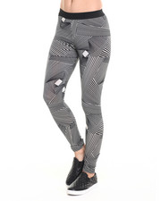 Women - Jess Assymetrical Print Leggings