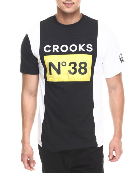 Ur-ID 220728 Crooks & Castles - Men Black Stadium Football T-Shirt