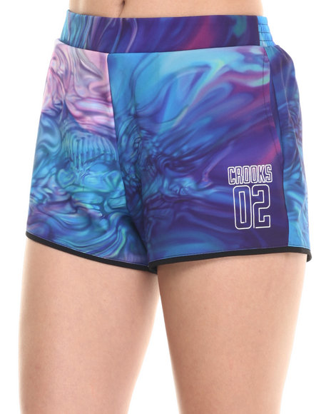 Ur-ID 220772 Crooks & Castles - Women Multi Euphoria Short