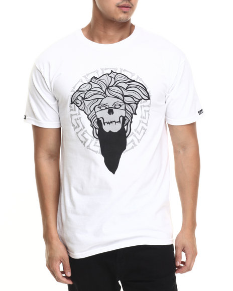 Ur-ID 220784 Crooks & Castles - Men White Bandito Bones Medusa T-Shirt