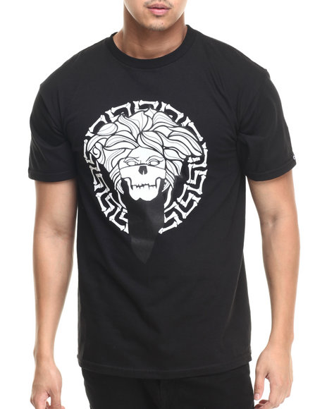 Ur-ID 220785 Crooks & Castles - Men Black Bandito Bones Medusa T-Shirt