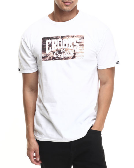 Ur-ID 220788 Crooks & Castles - Men White Bricks Core Logo T-Shirt