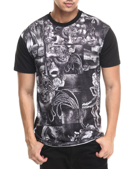 Ur-ID 220789 Crooks & Castles - Men Black Shimura T-Shirt