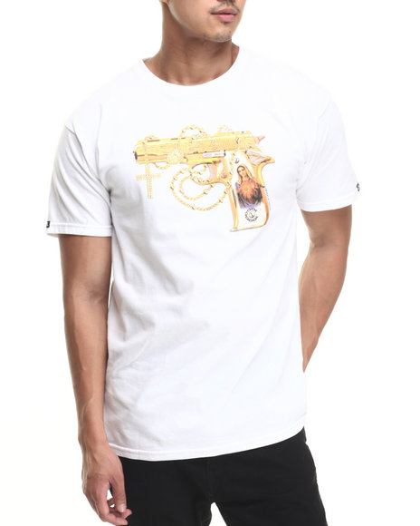 Ur-ID 220790 Crooks & Castles - Men White Hail Mary T-Shirt