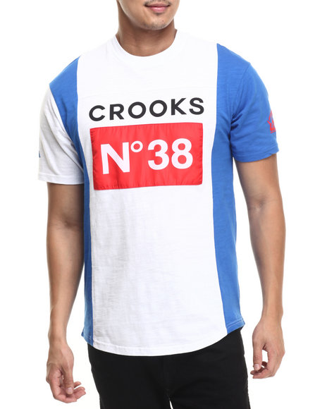 Ur-ID 220795 Crooks & Castles - Men White Stadium Football T-Shirt