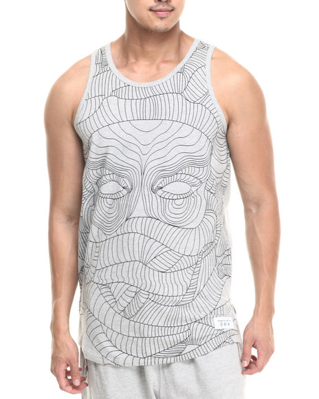 Crooks & Castles - Men Grey Linear Medusa Tank